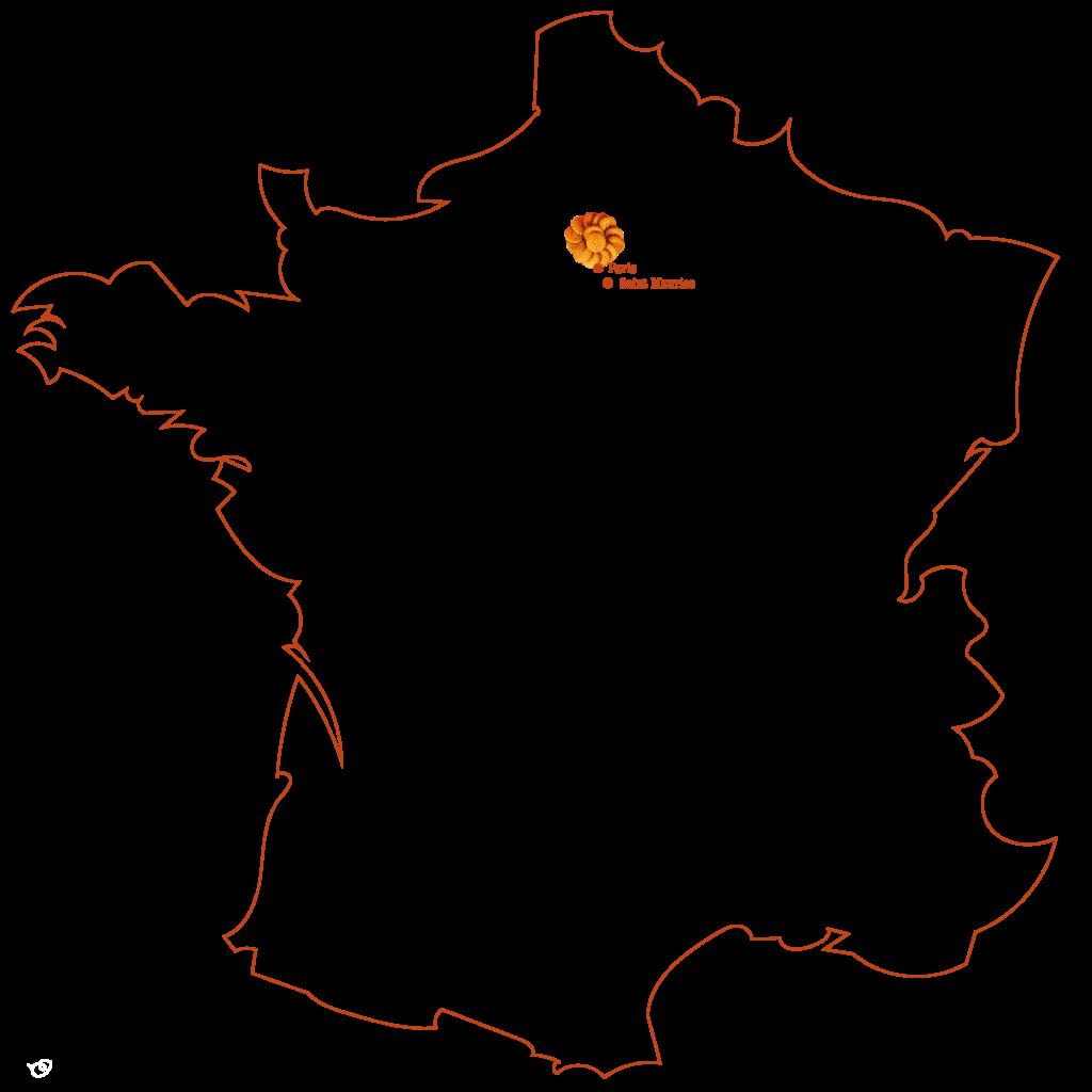 Carte de France La Gastelerie